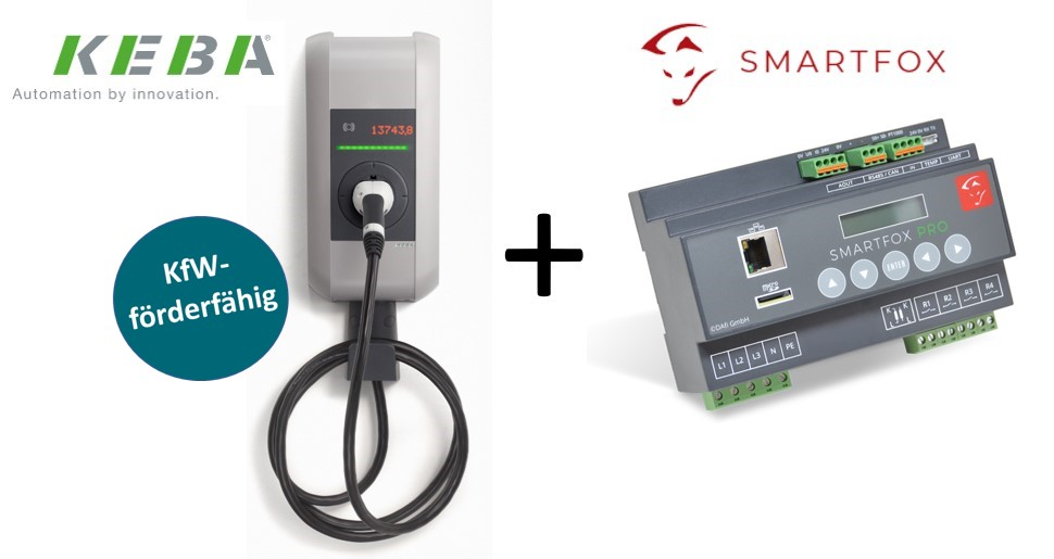Solar-Bundle Smart: Wallbox KEBA c-series inkl. Smartfox Pro